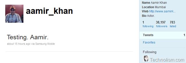 Aamir Khan joins the Tweet Race; gets 38k fans in 13 hours