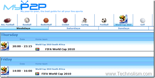 myp2p live football streaming online