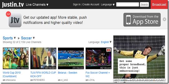 justintv live football streaming online