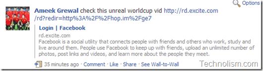 Facebook Spam football video