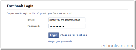 facebook fake login page