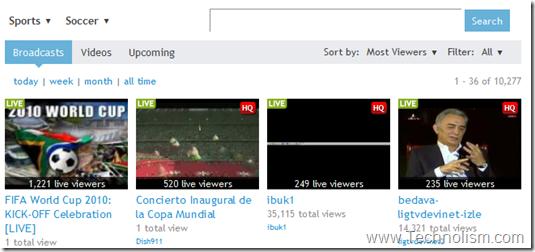 ustreamtv live football streaming online