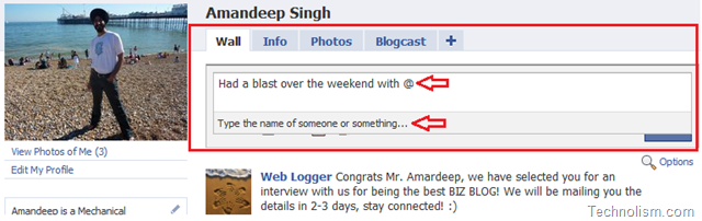 [How To] tag friends on your Facebook Status Message?