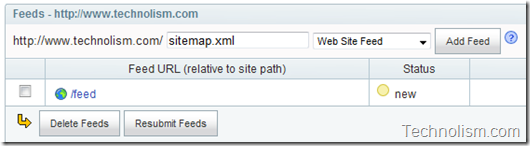 how to add sitemap xml to yahoo search engine