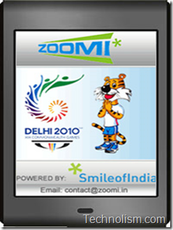 zoomi mobile application for commonwealth games