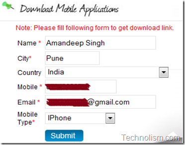 how to get the download link for zoomi cwg mobile app