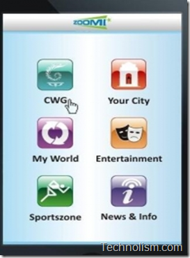 Zoomi CWG mobile app preview 1