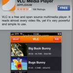 VLC Media player app available on iTunes