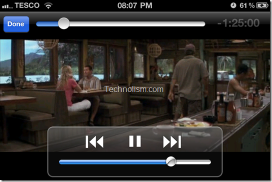 Playing movie in VLC Media player on iPhone or iPod Touch