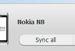 Sync Option on OviSuite Home