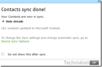 contacts from nokia phone sync with microsoft outlook