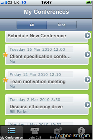 PowWowNow iPhone conference calls free app
