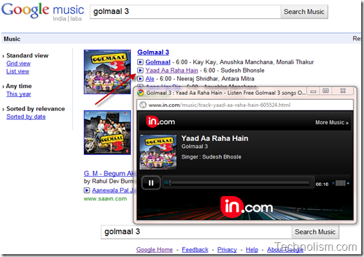 Online songs from hindi movies on Google