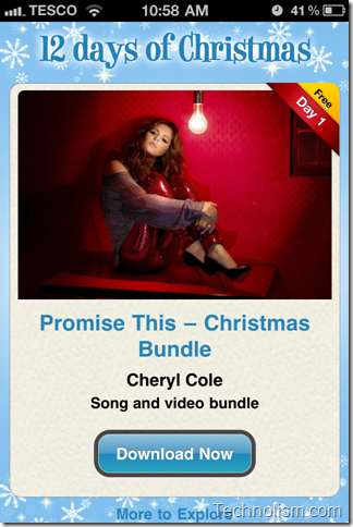 12 Days of Christmas - Cheryl Cole Promise This Download