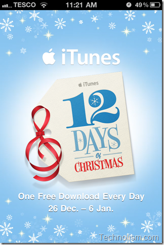 12 Days of Christmas - 12 Free Downloads from Apple iTunes