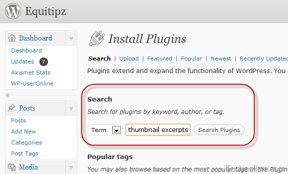[How To] generate post thumbnails on Thesis homepage automatically; Thumbnail for Excerpts WordPress plugin