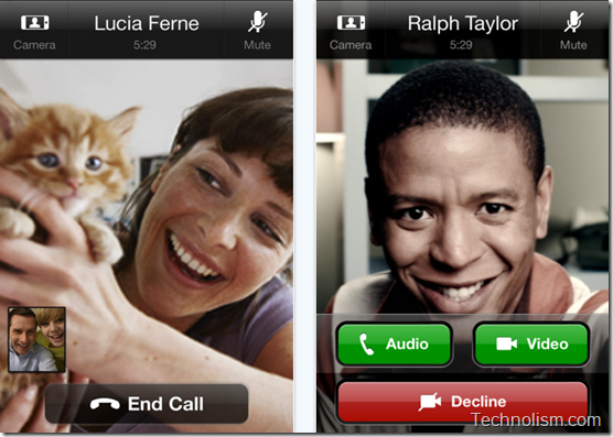 Video calling on Skype iPhone app 3.0