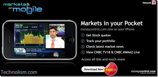 Download Moneycontrol Markets on mobile iphone app now