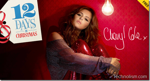Apple 12 Days of Christmas Cheryl Cole