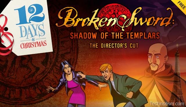 iTunes 12 days of Christmas Day 8 Giveaway – Broken Sword: Shadow of The Templars Director's Cut Free Download [UK]