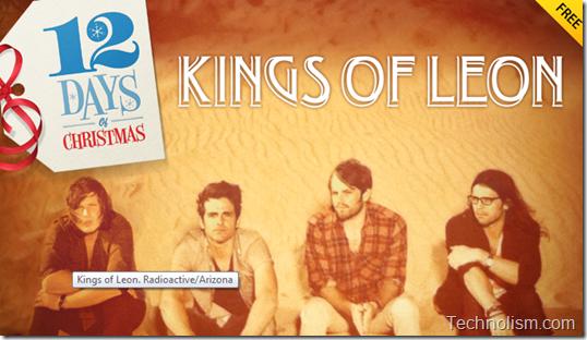 Kings of Leon 12 days of Christmas bundle