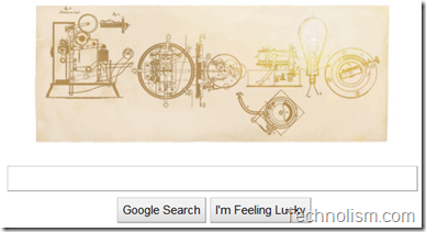 Thomas Alva Edison 164th birthday Doodle by Google