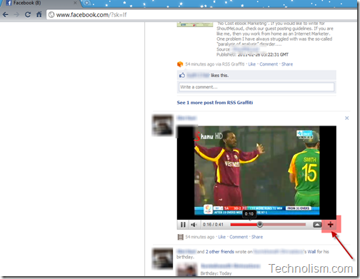 Default Youtube video in Facebook - Full screen button missing