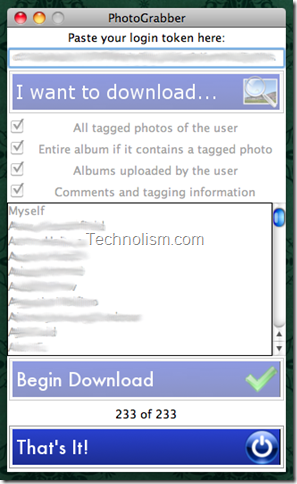 PhotoGrabber Facebook Photos downloader