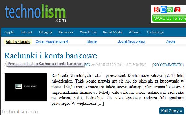 "KLAMKA13303 Spam WordPress user hits WP blogs with post ""Rachunki i konta bankowe"""