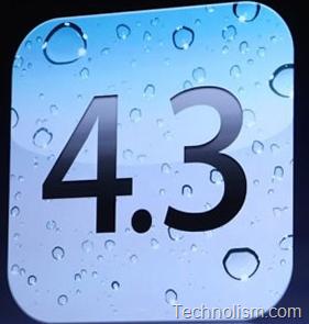 Apple iOS 4.3 upgrade