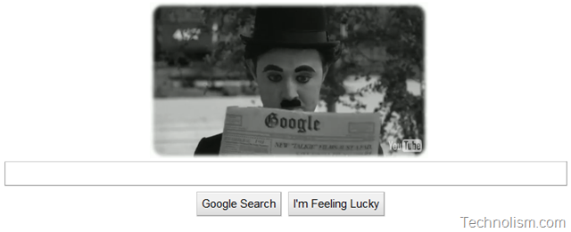 Google Celebrates Charlie Chaplin's 122nd birthday with interactive Video Doodle