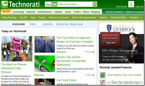 Technorati - Search Engine for blogs