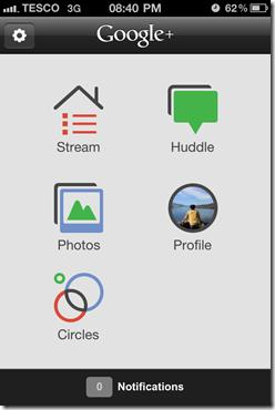 Google Plus iOS App