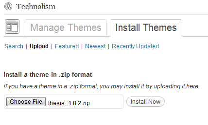 [How To] Install Thesis WordPress Theme on your Blog?