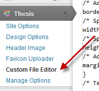 [How To] include an additional Navigation menu in Thesis