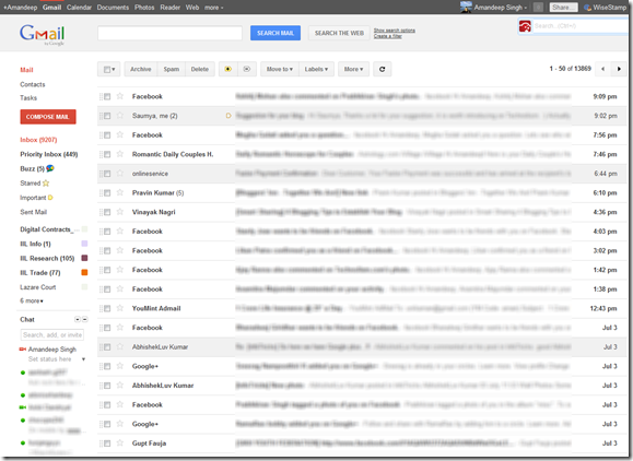 Apply Gmail Google Plus Theme