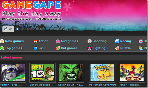 GameGape - Free New Games Everyday