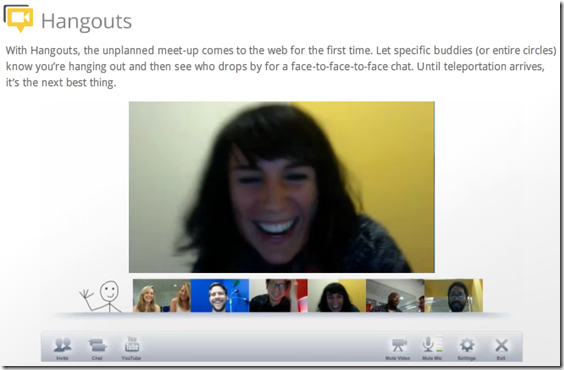 Google Hangout - Video Chat with your Circles