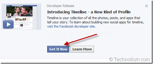 Enable Facebook Timeline