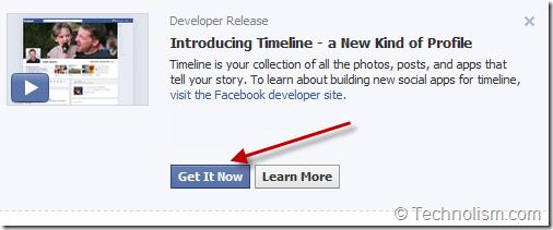 Enable Facebook Timeline
