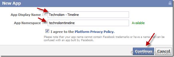 Create New App in Facebook dev