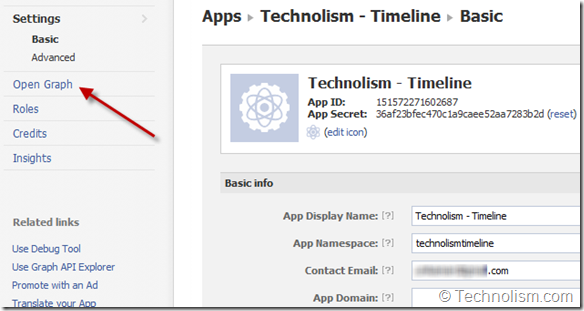 New App Settings - Timeline