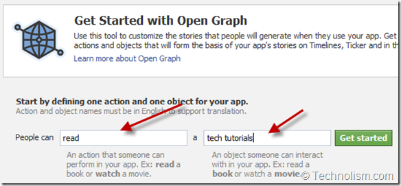 Open Graph Settings - Facebook Timeline
