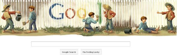 Mark Twain Birthday Google Doodle