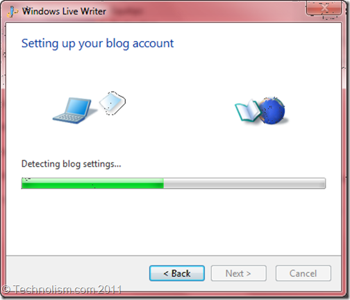 Blog Account Setup in Windows LiveWriter