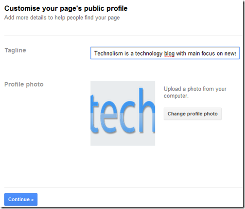 Add a Tagline and Photo to Google+ Page