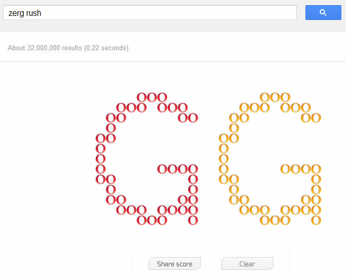 Zerg Rush - Google Easter Egg