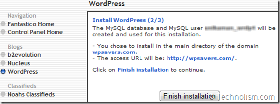 Wordpress Installation - Hostgator
