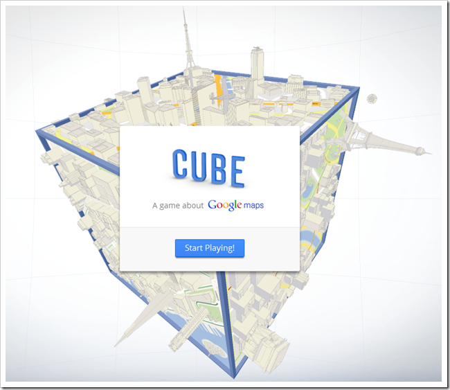 Gamified Google Maps - Cube