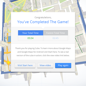 Cube Score - Game about Google Maps